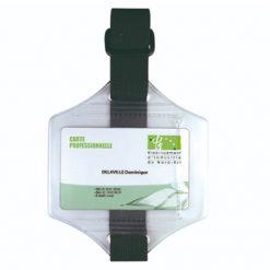 brassard porte badge horizontal