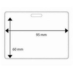 pochette plastique horizontale 95 par 60 mm porte badge