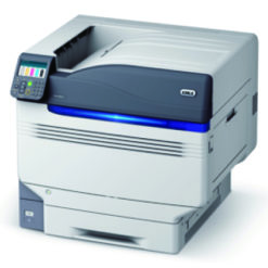OKI Pro 9541 impression 5 couleurs blanc transparent